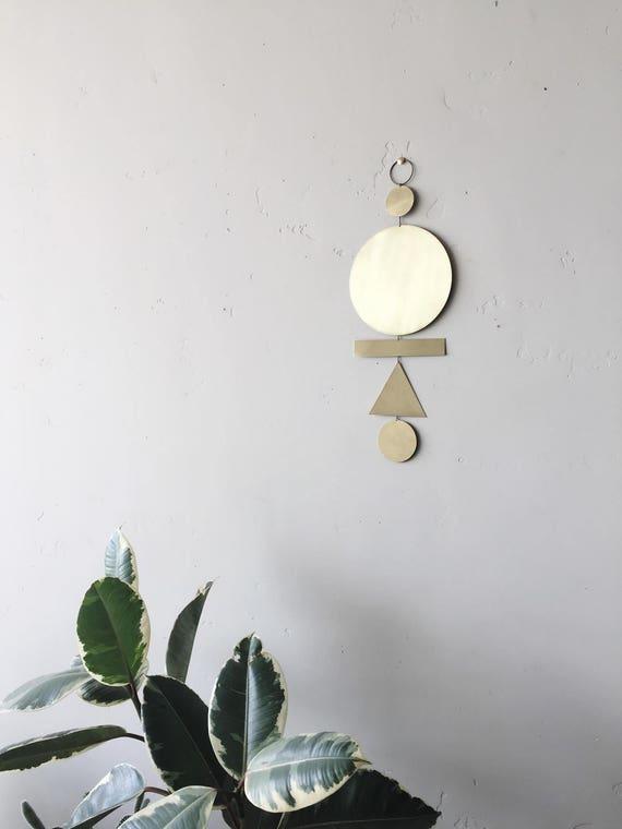 "Brass wall hanging - ""lenah"" - made-to-order - 3 week turnaround time"