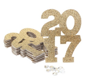 2017 Confetti Gold Glitter, 2017 Graduation Confetti, 2017 Confetti, Glitter Confetti, Confetti, Graduation Party Decoration, Class of 2017