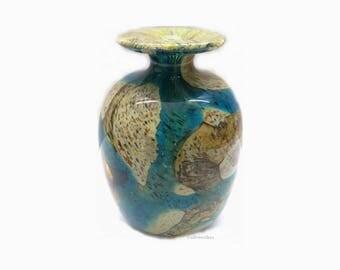 Mdina Glas Vase | Malta Glas | 70s  Design | Michael Harris Era