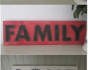 String art custom made to your choice of word/s