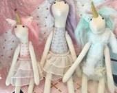 Handmade Stuffed Unicorn dolls