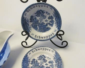 Blue Willow Plates Schweppes Advertising Plates Enoch Wedgwood Tunstall Blue Willow Decor Blue wedgwood