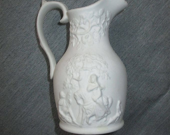 "Portmeirion Porcelain British Heritage Collection TOURNAMENT 4"" Parian Ware Jug (c. 1980s)"