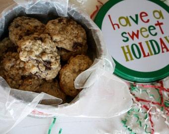 Small Christmas Cookie Tin, Holiday Cookie Tin, Homemade Baked Goods, Christmas Cookies