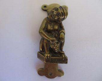 Vintage Penrhyn Devil Brass Door Knocker