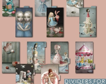 GREAT SALE _ Artistic Dividers for PERSONAL planner