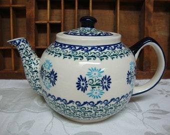 Polish Pottery Teapot 4 cup