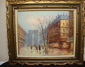 Paris France Arch de Triumph Oil Painting
