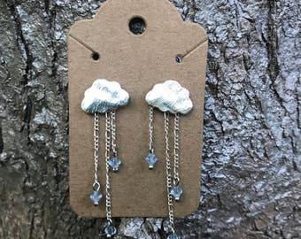 Rain Cloud Dangle Earrings