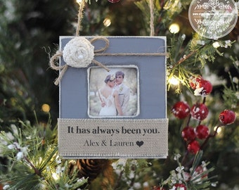 Christmas Ornament Couple Husband Wife Married Engaged Personalized Ornament Wedding First Christmas Married GIFT