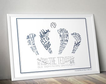 ODU Hand-Lettered Digital Print
