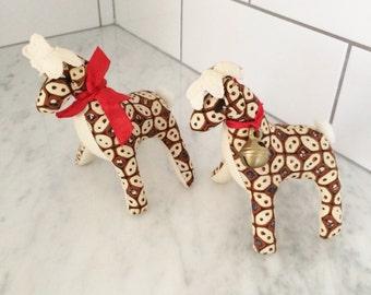 Batik Reindeer, Holiday Decor, Fabric Reindeer, Christmas Decor, Batik Decor, Boho Christmas, Handmade Reindeer, Brown Navy Batik