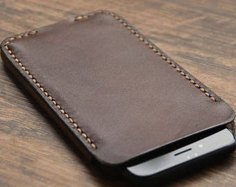 Retro leather  iPhone6  /iPhone 6Plus/ iPhone7 protcet  cover - Hand Stitched iPhone case