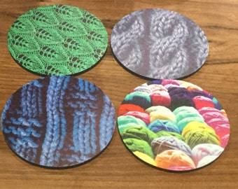 Handmade Coaster Sets - Knitting, Crochet, Sewing