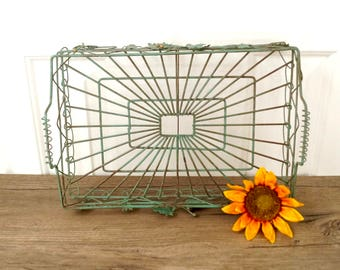 vintage ivy wire serving tray green and gold boho