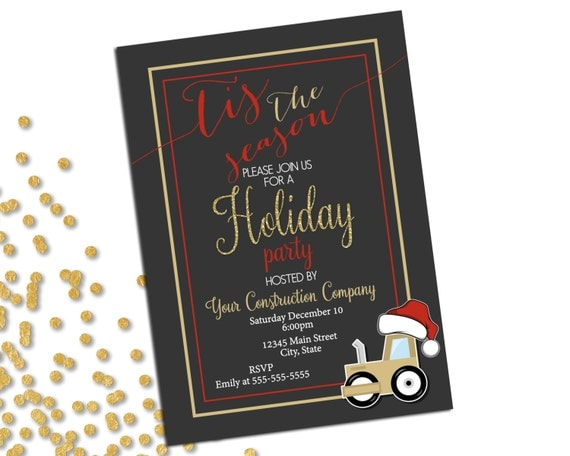 Company Holiday Party Invitation Christmas Party – Office Holiday Party Invites