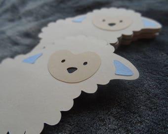 Set of 10 Blue Lambs