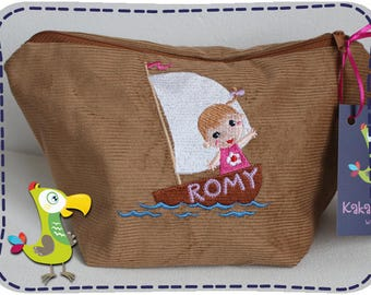 Small cosmetic bag or diaper bag