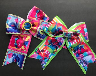 Trolls Cheer Bows