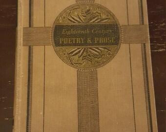 Eighteenth Century Poetry & Prose book - 1939