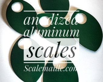 100 large anodized aluminum of scales (green)