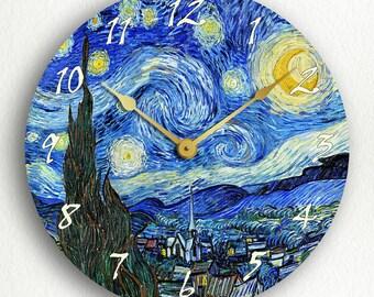 Van Gogh The Starry Night Silent Wall Clock