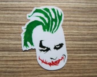 Joker Clear Sticker, 100% Waterproof Vinyl Clear Sticker, Pop Culture Clear Sticker