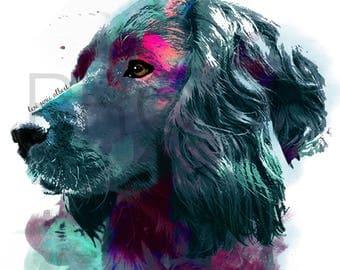boykin spaniel || boykin || Spade the Boykin || boykin art || dog art || watercolor dog art || watercolor dog || boykin watercolor