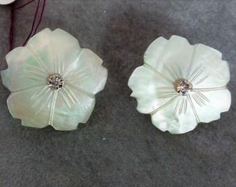 Vintage Mother of Pearl Earrings