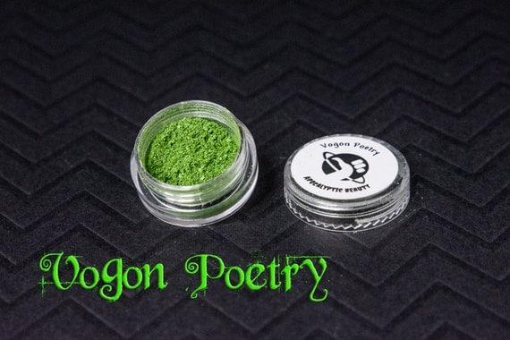 Vogon Poetry - metallic slime green vegan eyeshadow
