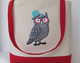 Retro Owl Tote Bag