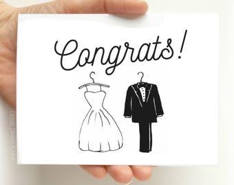 Wedding Congratulations Card - Wedding Greeting Card - Engagement Card - Congratulations Card Bridal Shower Greeting Card - Card for Bride
