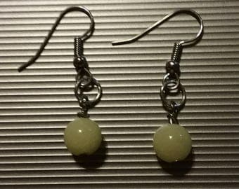 Yellow Beaded Earrings 49