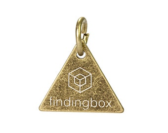 Antique Bronze Triangle Jewelry Tag, Laser Engraved Logo on Triangle Tags Sequins, 15x15mm, 19 Gauge, Pkg of 100 PCS, F14N.AN09.P100.C