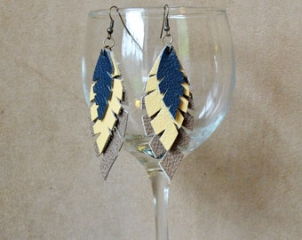 E10 Leather Earrings...FREE SHIPPING in US
