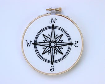 Compass Embroidery Hoop