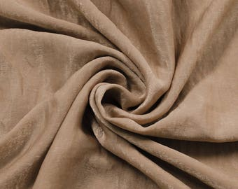 Taupe Soft Poly Sand Wash Satin Fabric by the Yard - Style 682