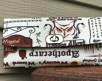 Diagon Alley Wallet, Harry Potter Wallet, HP Wallet, Harry Potter NCW , Potter places Wallet, HP Fandom Wallet