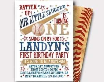 Baseball Birthday Invitation | All Star Birthday Invitation | Sports Birthday Invitation | First Birthday Invitation | Softball Invitation