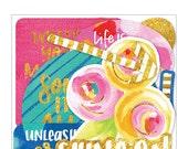 Bella Blvd - Make Your Mark - Paper Pieces - Gold Foil - 34 pieces - MYM1615