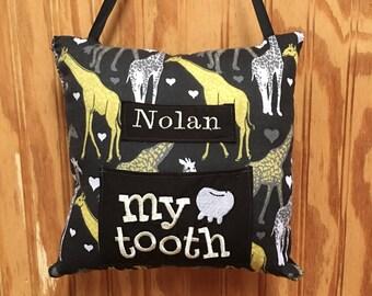 Giraffe Tooth fairy pillow