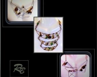 Statement jewelry,Art jewelry,womans gift ideas,wife gift,modern jewelry,bold jewelry,geometric jewelry