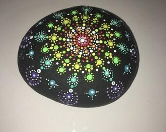 SALE!! Mandala Stone - Painted Rock - Hand Painted - Art - Meditation
