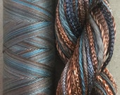 Two of a Kind, No.21 Rust - Hand Dyed Cotton and Viscose Thread Selection plus Cotton Machine Thread in a combination Pack