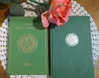 The National Rose Society- 2 x annual books-hardback 1952 & 1970 gardening
