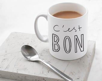 C'est Bon Mug - Hand Lettered Typography Mug