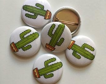"Cactus 1"" pinback button"
