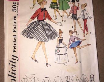 Vintage Simplicity 4700 Barbie Doll Pattern