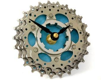 Recycled Bicycle Cog Desk Clock - Bike Clock - Steampunk Clock - Bicycle Gear Clock - Bicycle Clock - Upcycled Bike Parts - Ecofriendly Gift