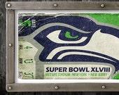 Seattle Seahawks Vintage Ticket Poster - Superbowl 48